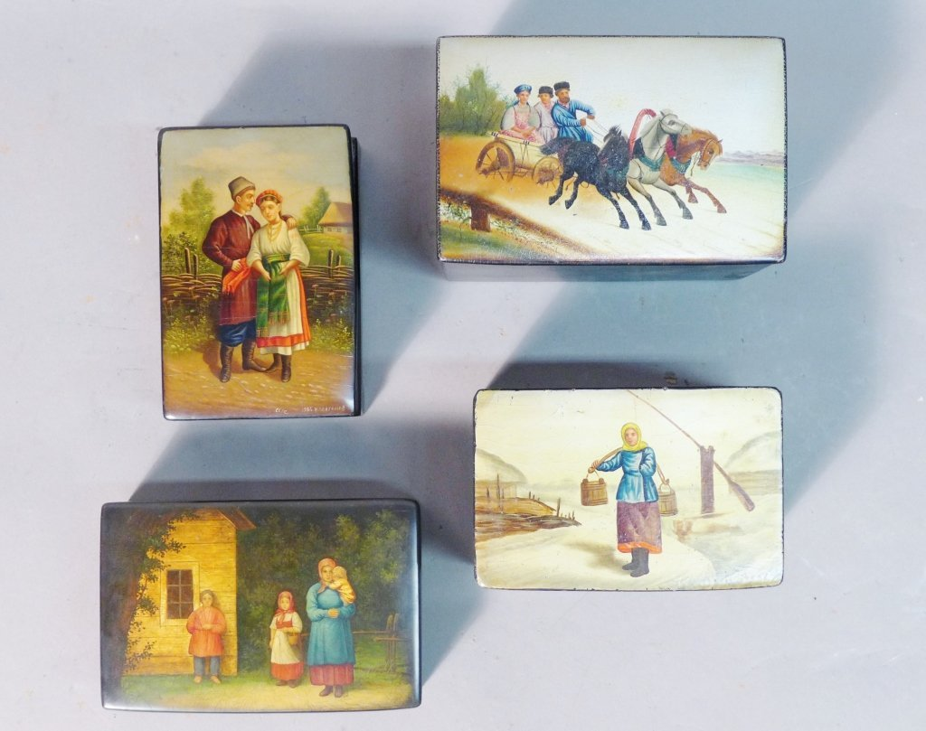 Collection of  Russian Lacquer Boxes