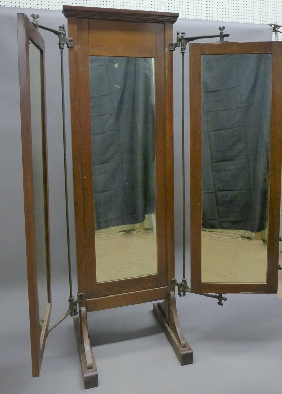 Antique Tri Fold Tailor's Mirror