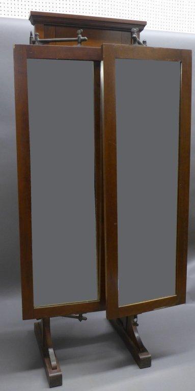 Antique Tri Fold Tailor's Mirror - 6