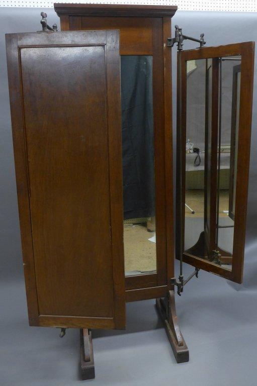Antique Tri Fold Tailor's Mirror - 7