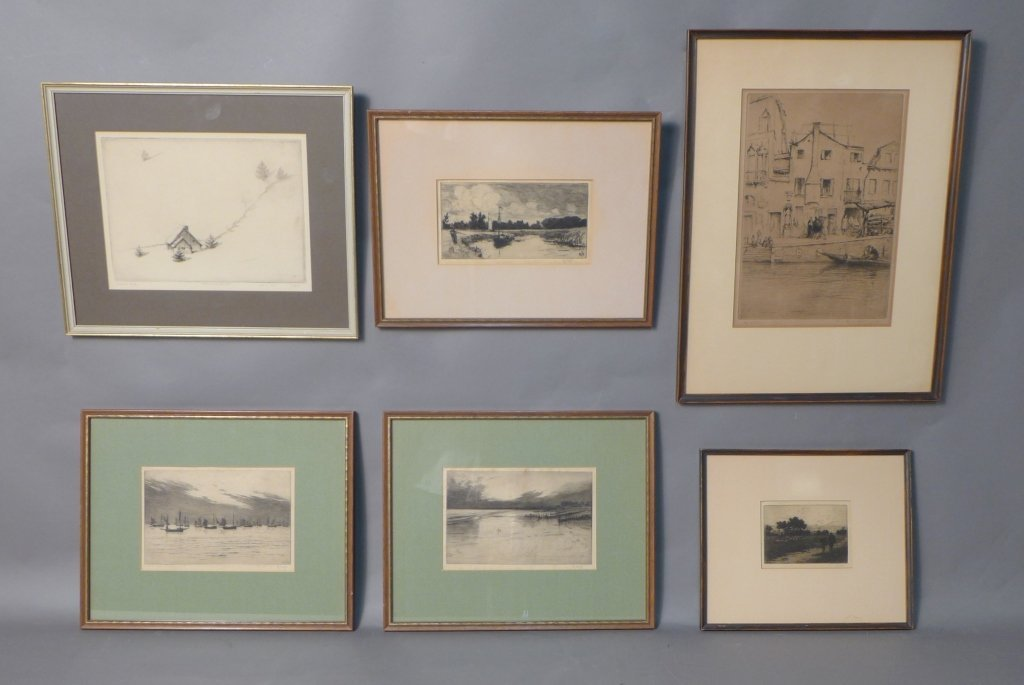 Collection of 6 Etchings
