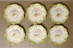 Set of 6 Limoges Porcelain Fish Design Plates