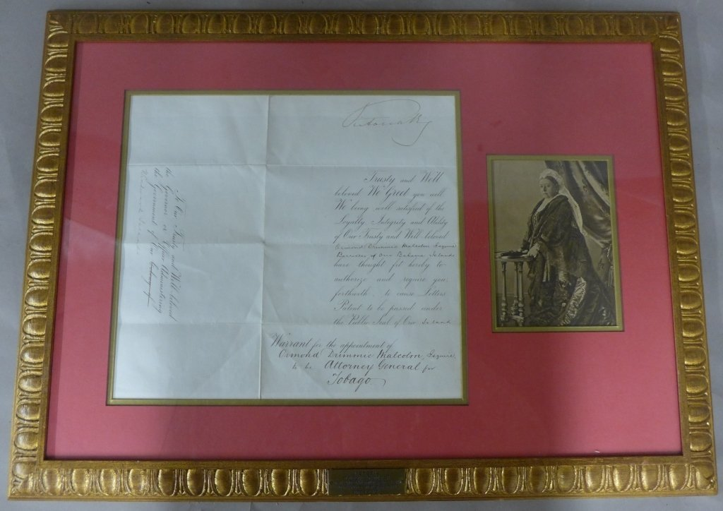 Double Sided Framed Document With Photo