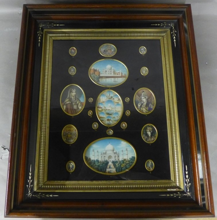 Collection of Framed Indian Painted Miniatures