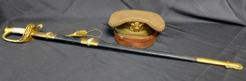Military Cap with Eagle and Navel Sword