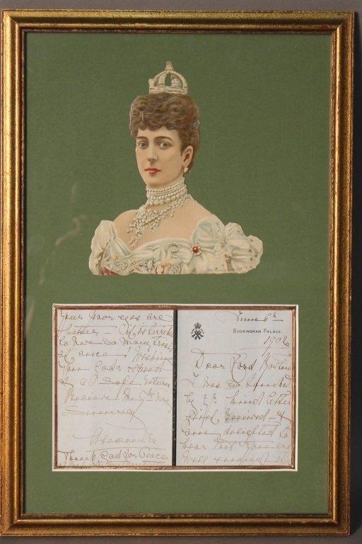 Letter from Queen Alexandra