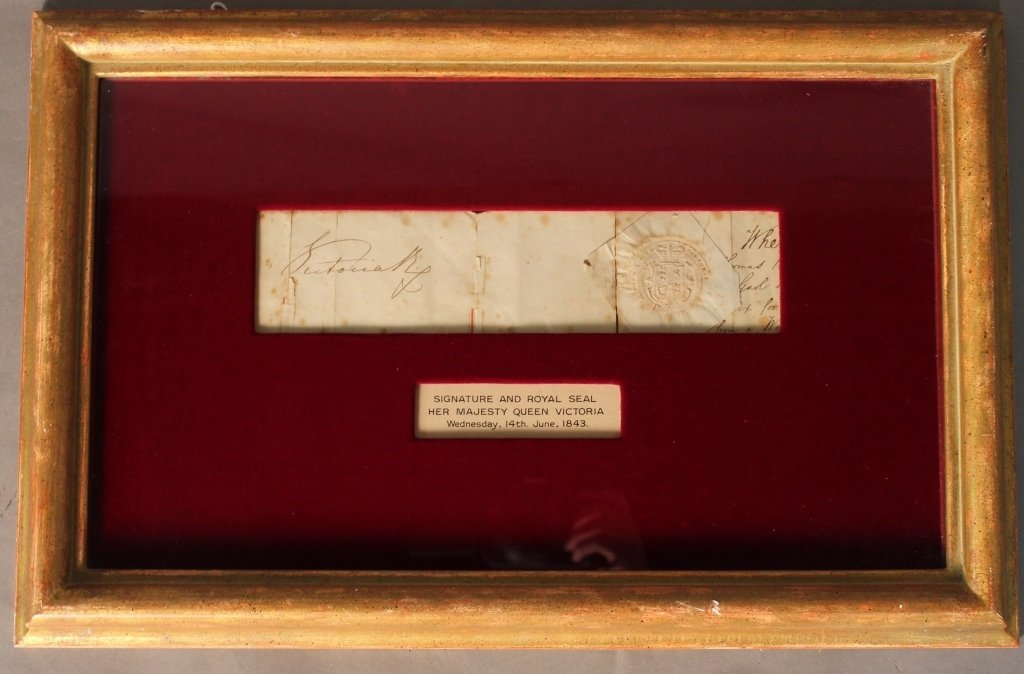 Signature & Royal Seal Her Majesty Queen Victoria