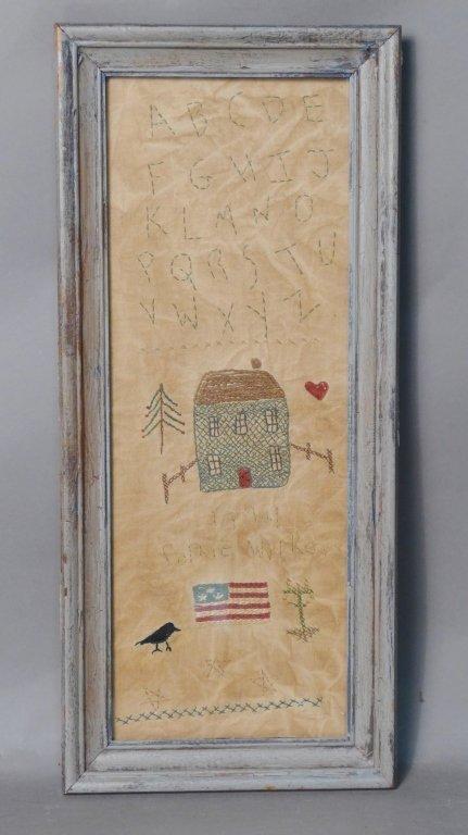 Antique Folk Art/ Americana Needlepoint