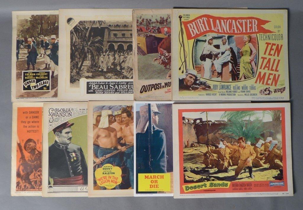 Assortment of 51 Foreign Legion Lobby Movie Cards