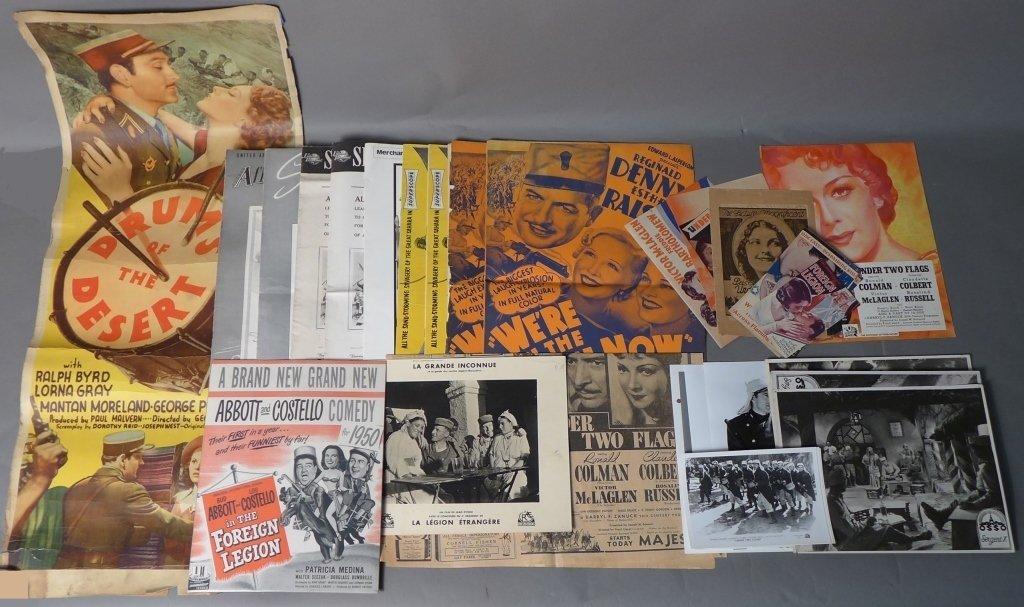 Collection of Foreign Legion Movie Memorabilia