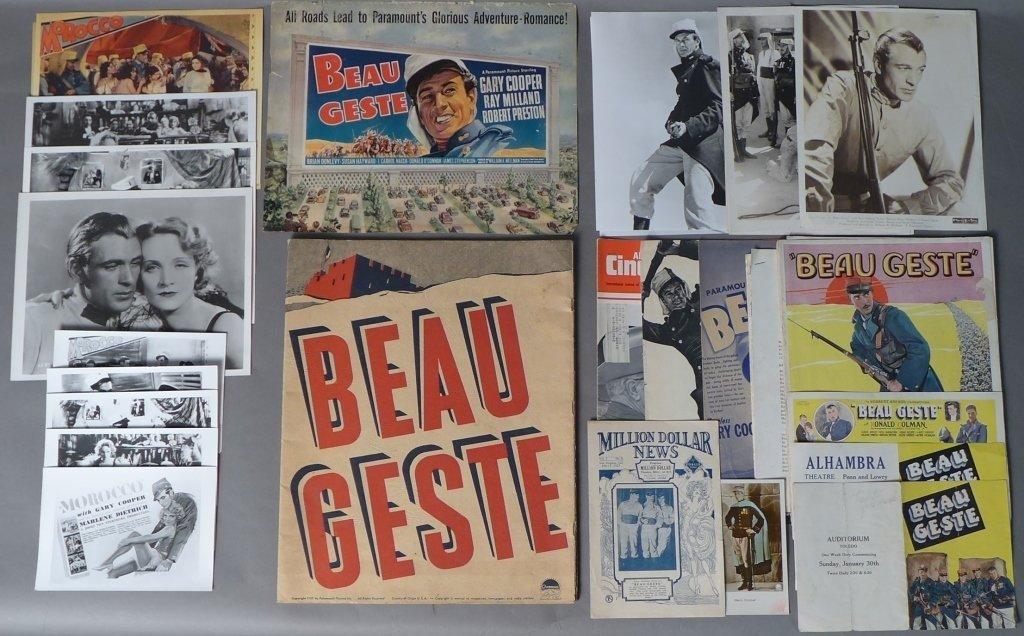 Collection of Beau Geste Movie Memorabilia