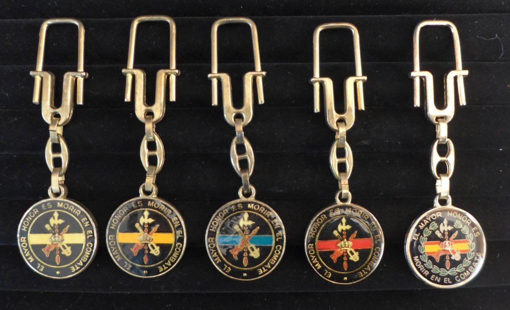 Collection of 5 Spanish Legion Key Chains