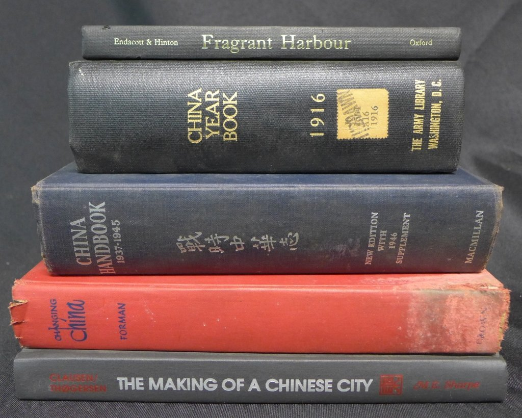 5 Vintage Books on China's History
