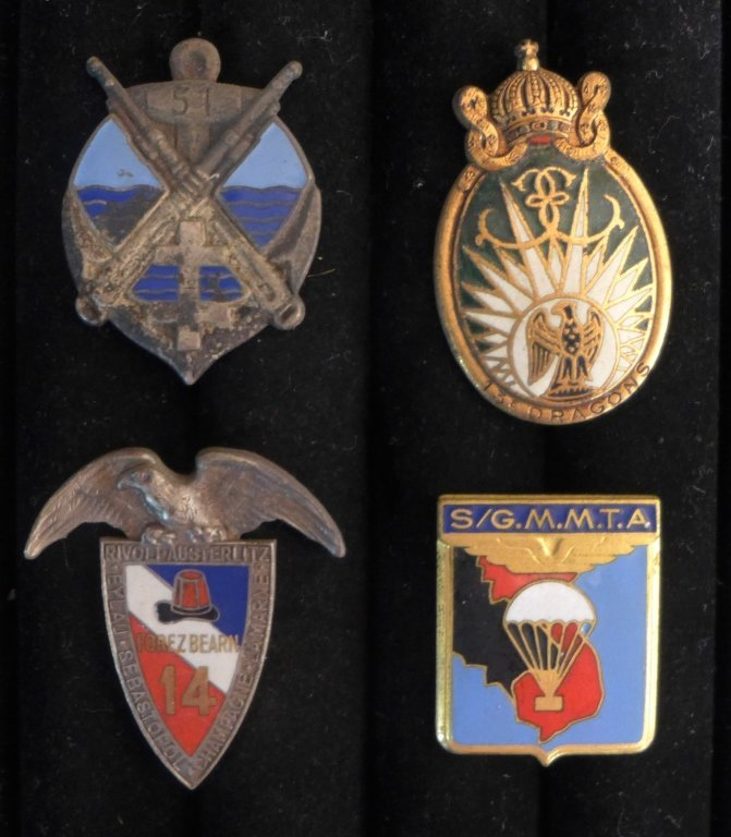 Assorted Foreign Legion Insignia Badges