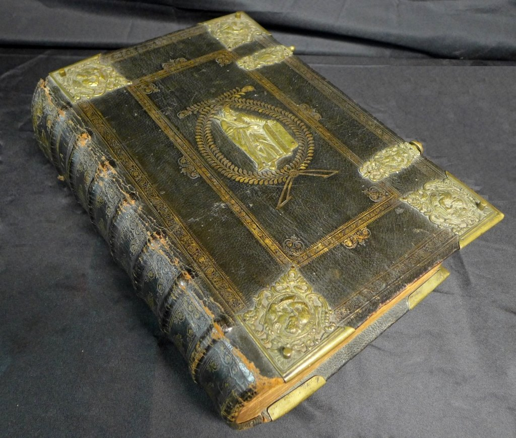 Antique Leather Bound Bible, German