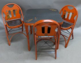 Louis Rastetter & Sons Folding Chairs & Table Set