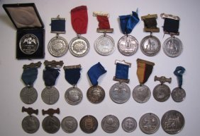 Group Of 23 British School Attendance Medals