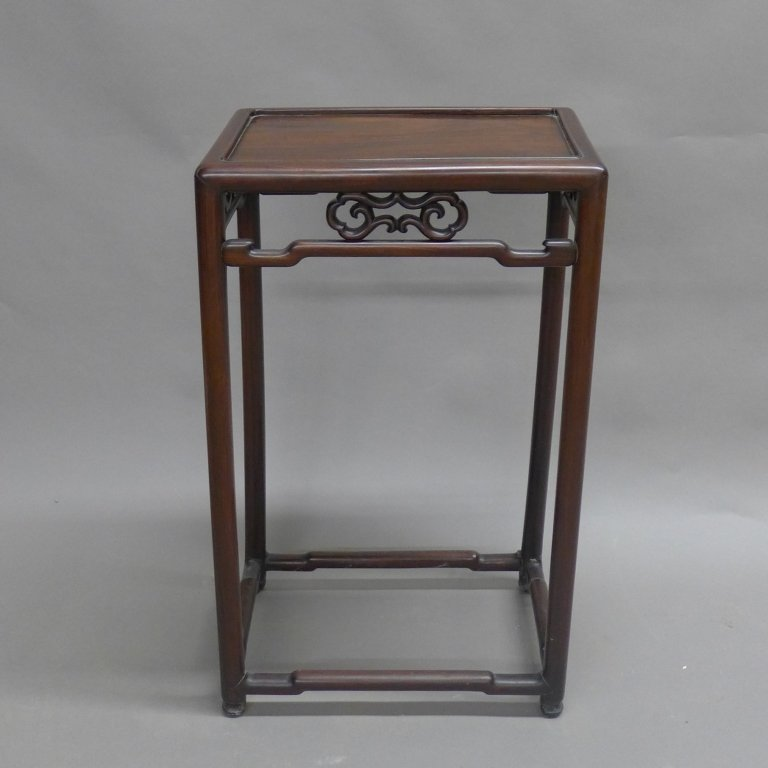 Chinese Carved Hardwood Accent Table