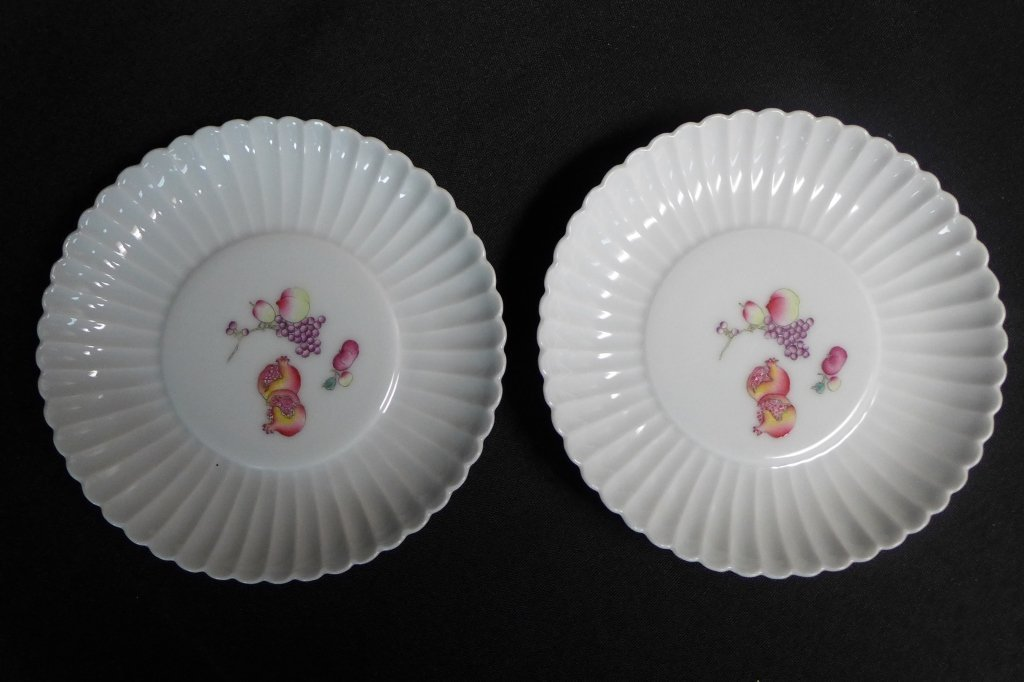 Pair Chinese 19th C Porcelain Dishes