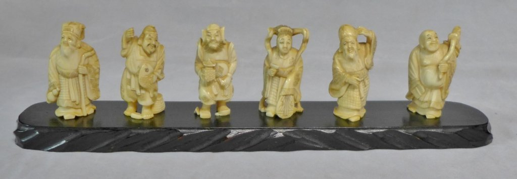 Chinese Carved Immortal Grouping