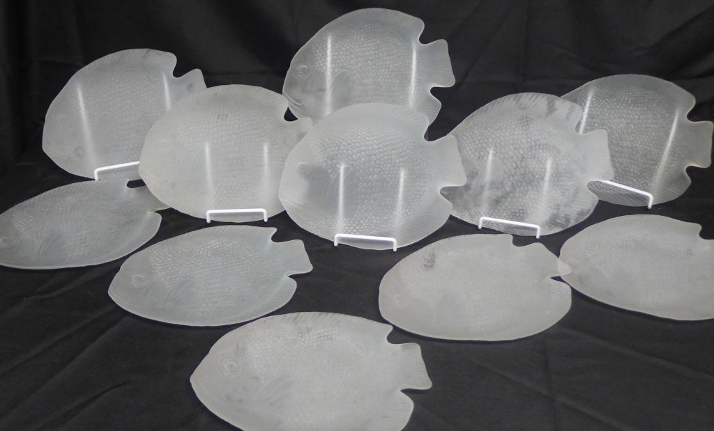 Frosted Glass Fish Plates