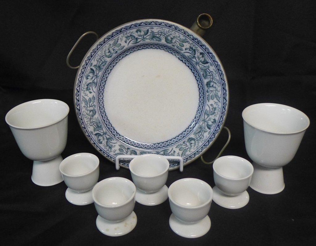 Arzberg Porcelain Egg Cups and Warming Dish