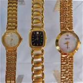 Three Womens Dress Watches