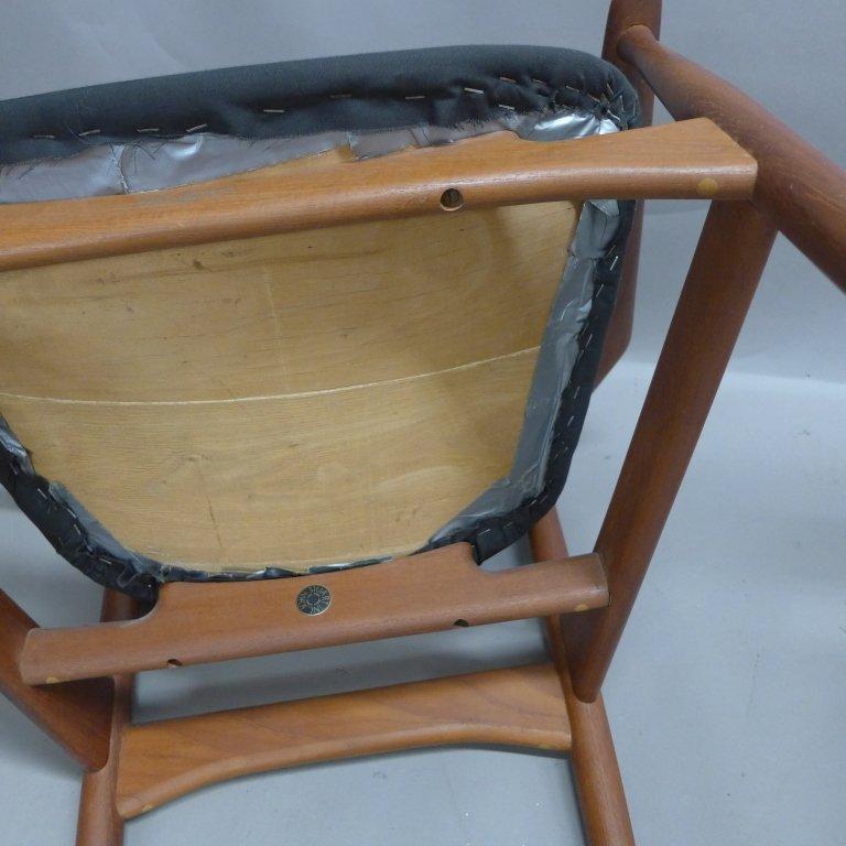 Pair Arne Vodder Danish Modern Teak Arm Chairs - 10