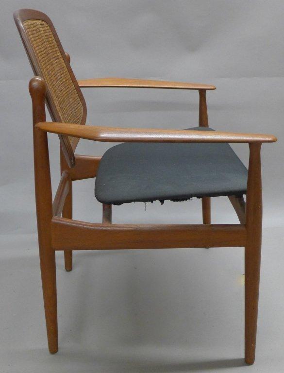 Pair Arne Vodder Danish Modern Teak Arm Chairs - 3