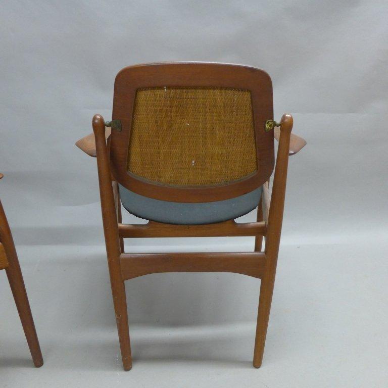 Pair Arne Vodder Danish Modern Teak Arm Chairs - 6