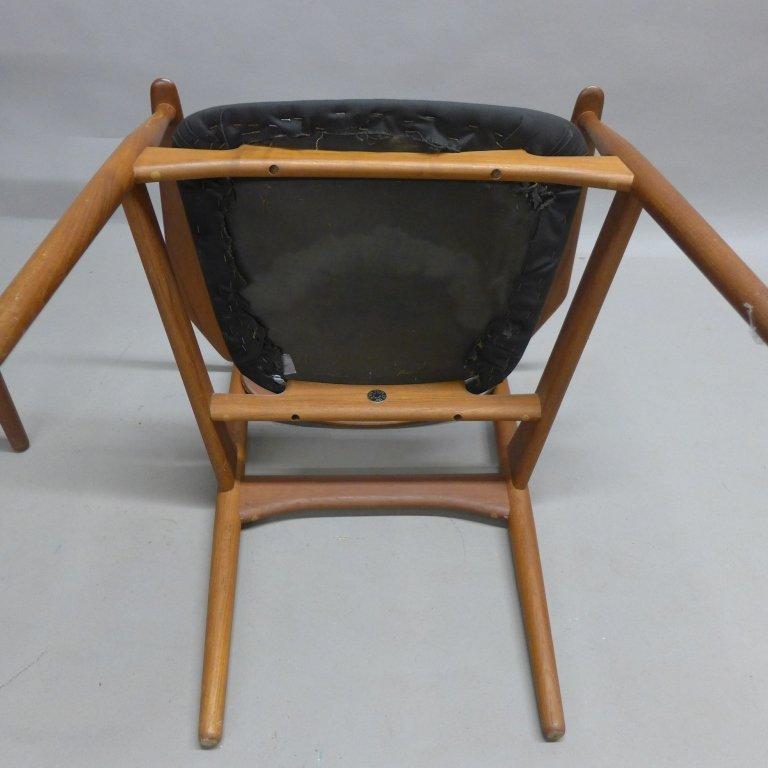 Pair Arne Vodder Danish Modern Teak Arm Chairs - 8