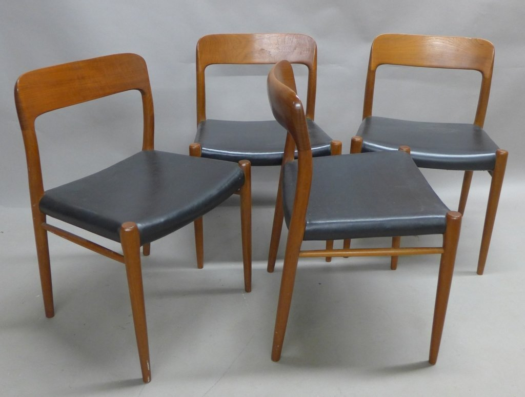 Four J.L. Moller Dining Chairs