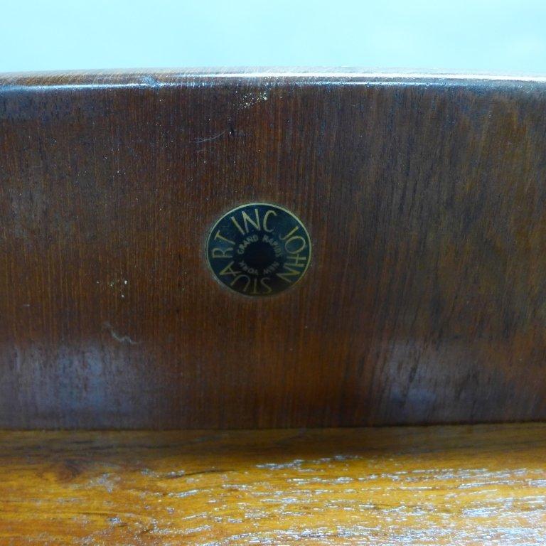 Modern John Stuart Teak Wood Side Table - 7