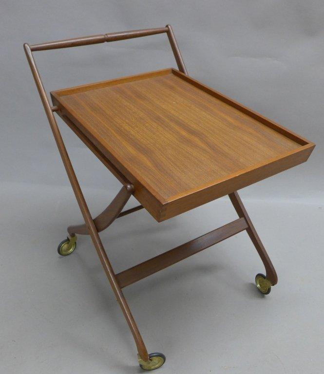 Mid Century Modern Teak  Danish Folding Tea Cart - 2