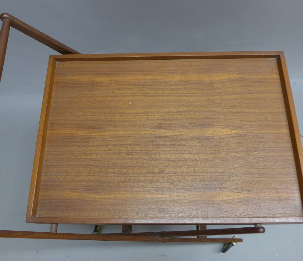 Mid Century Modern Teak  Danish Folding Tea Cart - 3