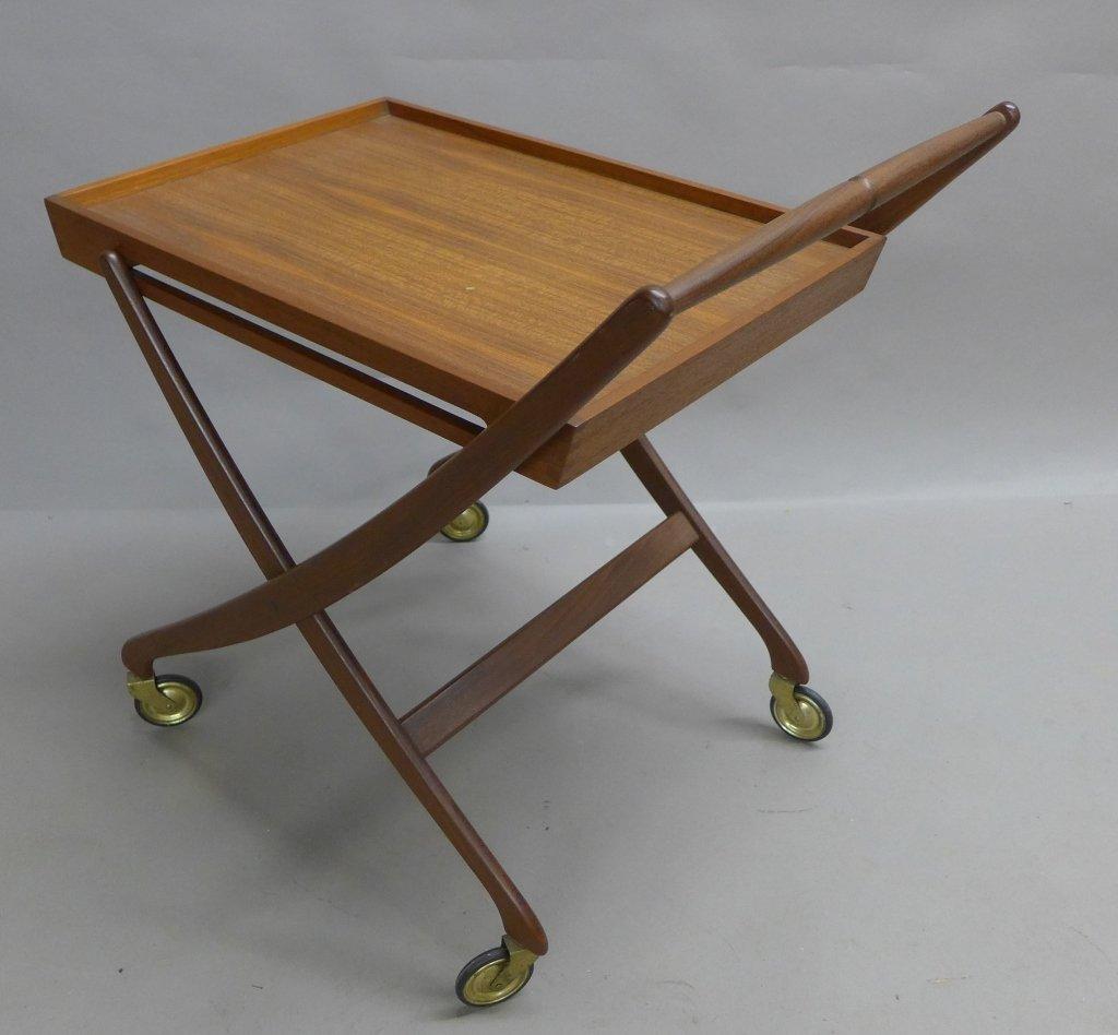 Mid Century Modern Teak  Danish Folding Tea Cart - 6