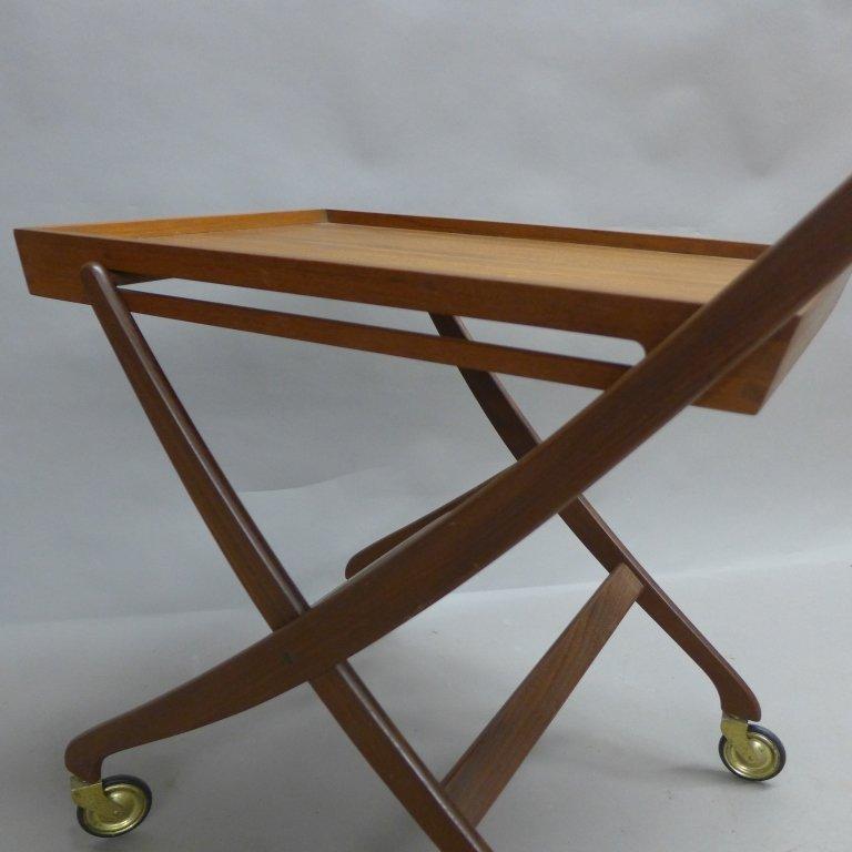 Mid Century Modern Teak  Danish Folding Tea Cart - 7