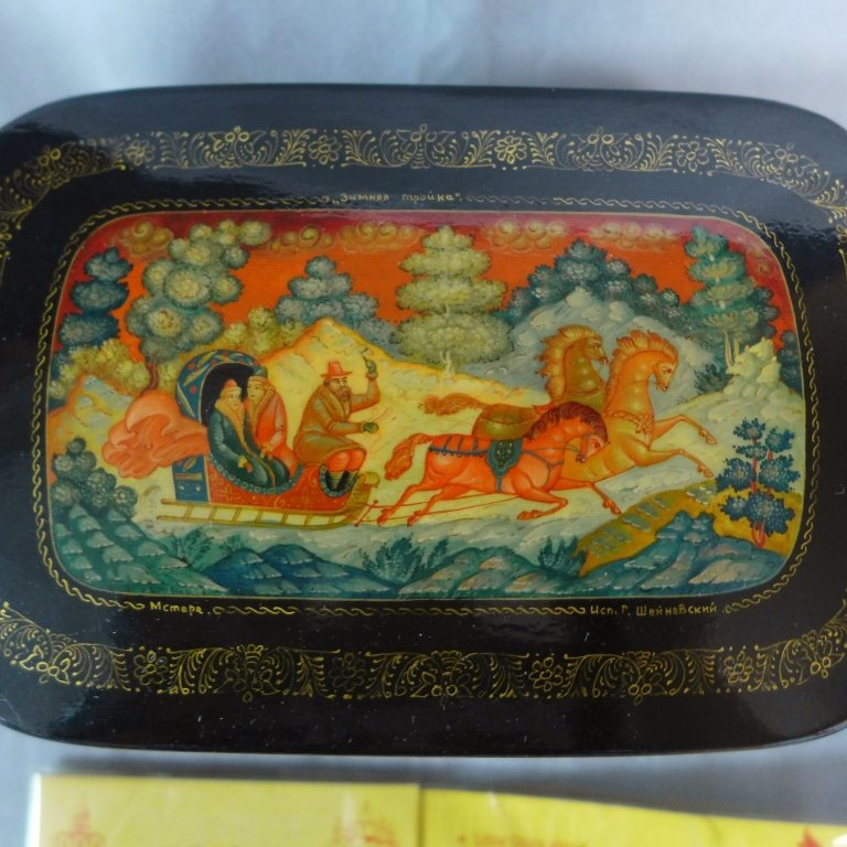 Russian Lacquer Boxes & Brooches - 2