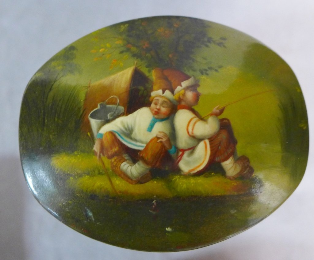 Hand Painted Russian Lacquer Boxes - 3