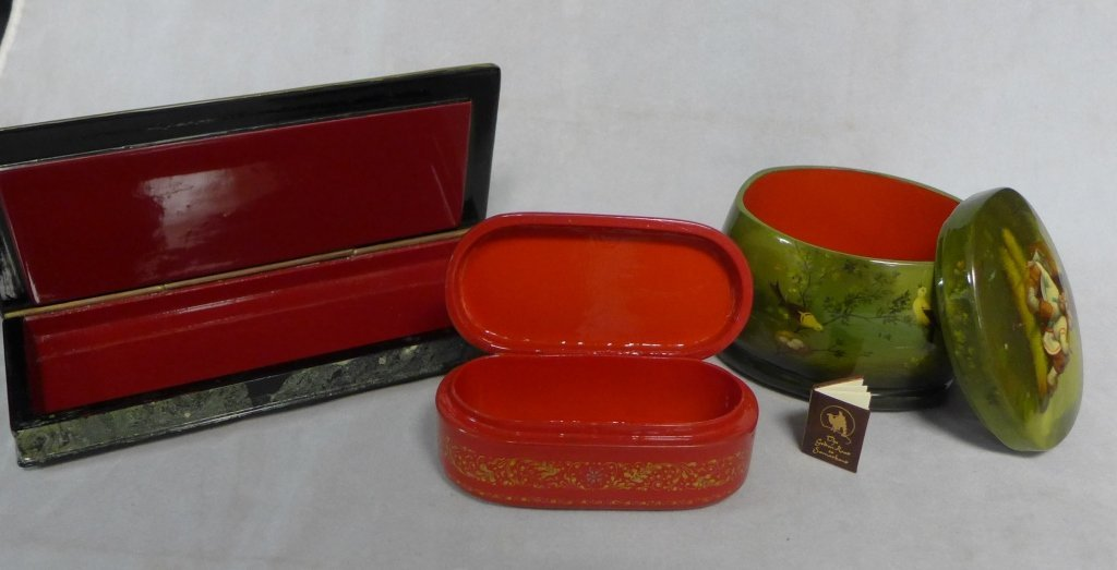 Hand Painted Russian Lacquer Boxes - 5