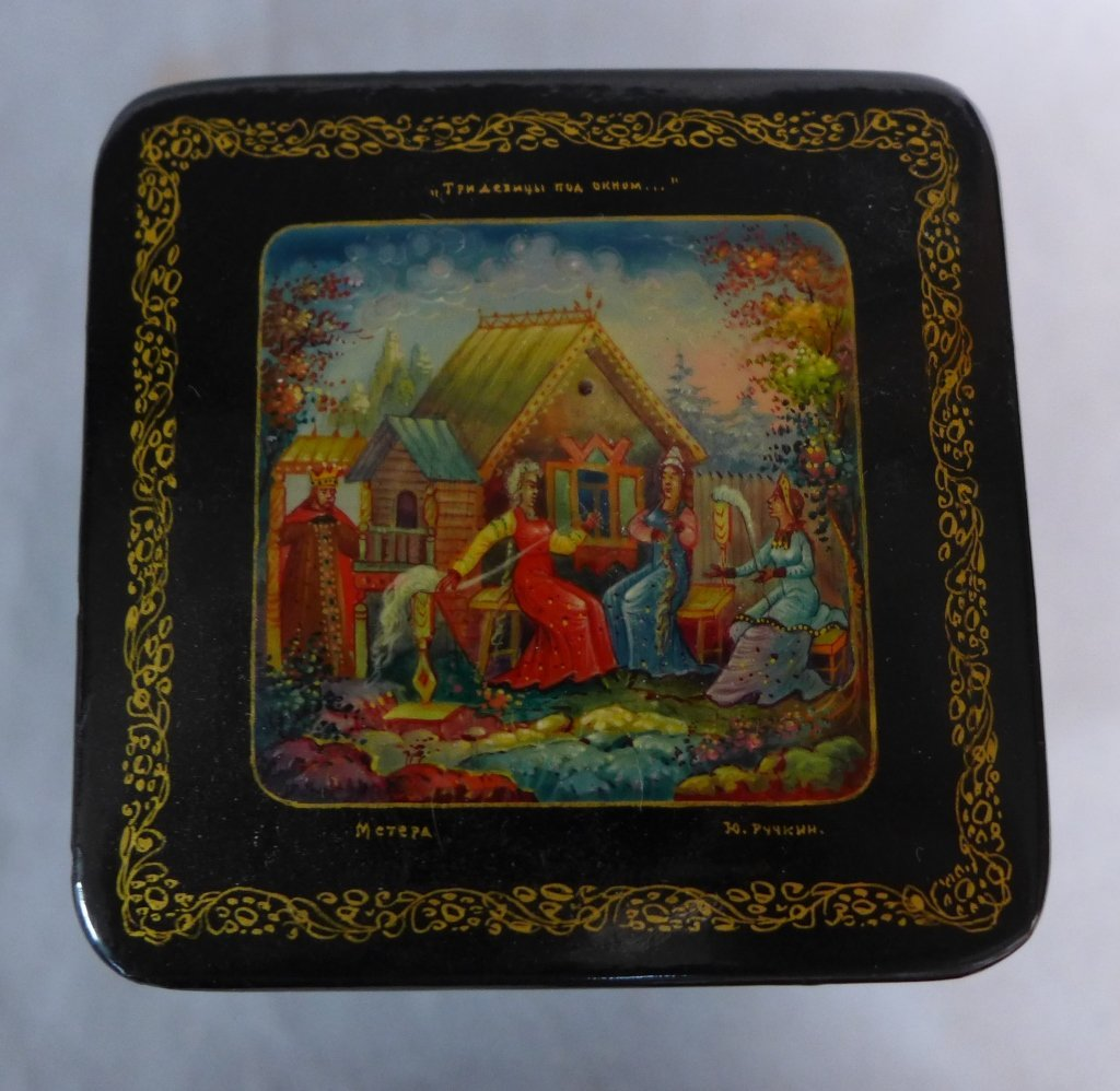 Russian Lacquer Box Grouping - 2