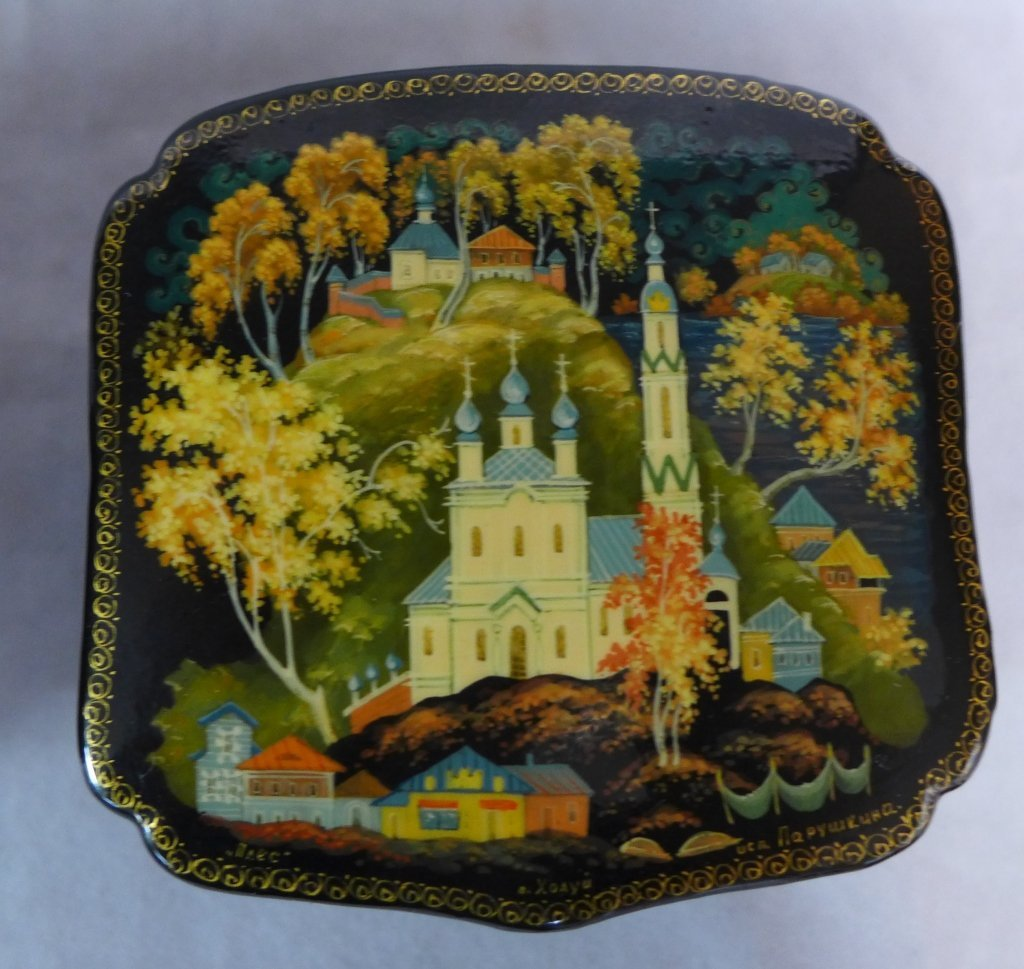 Russian Lacquer Box Grouping - 3