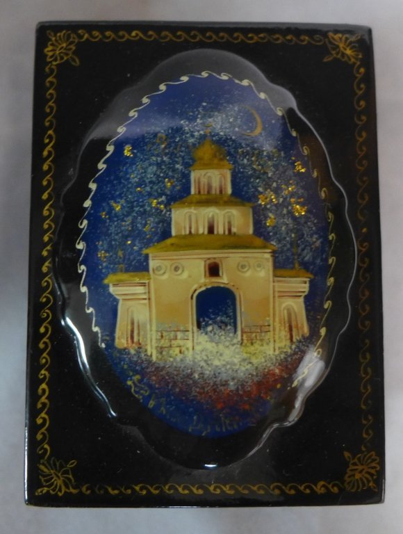 Russian Lacquer Box Grouping - 4
