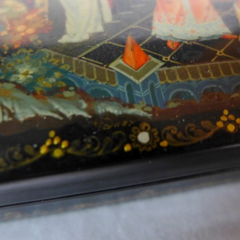 Beautiful Russian Lacquer Box - 10