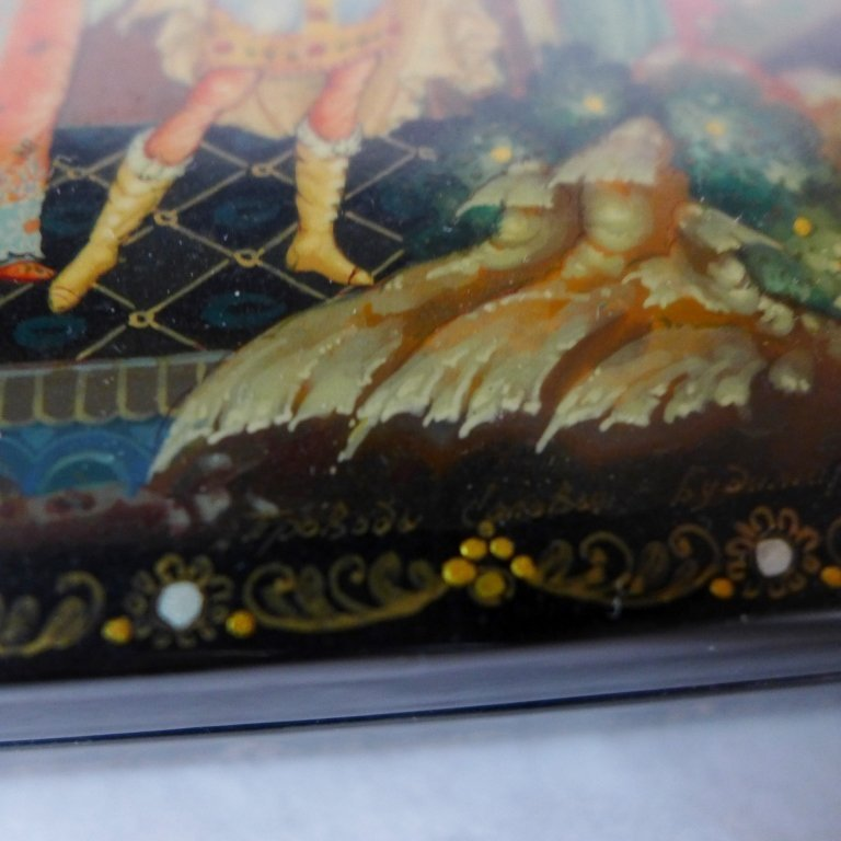 Beautiful Russian Lacquer Box - 9