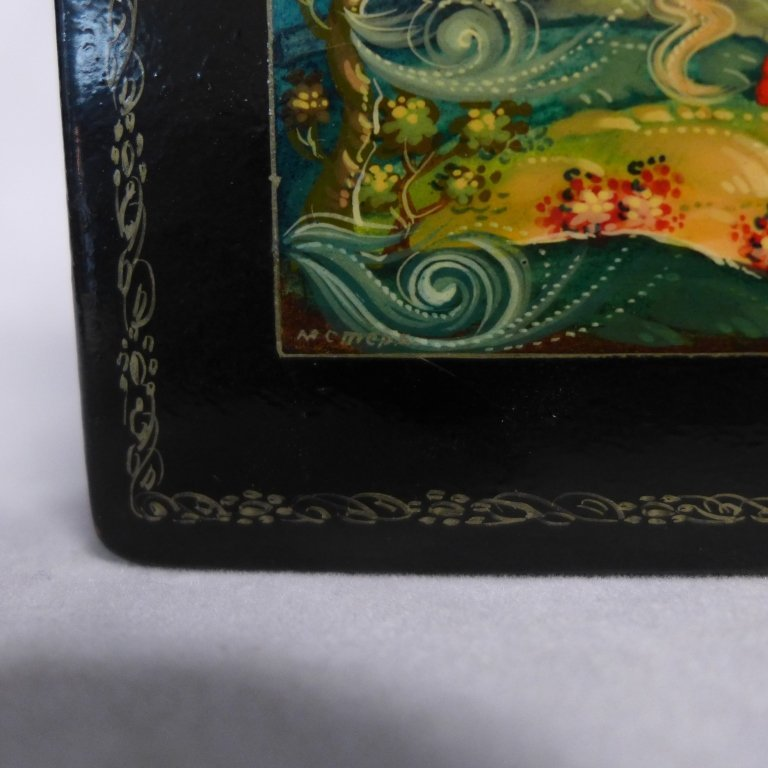 Two Russian Lacquer Boxes - 5