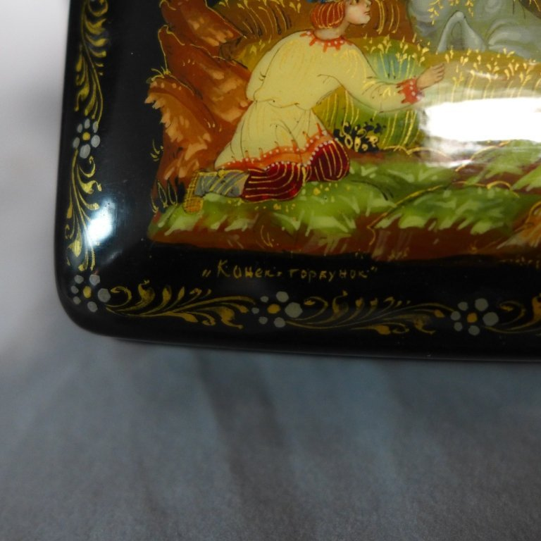 Two Russian Lacquer Boxes - 6