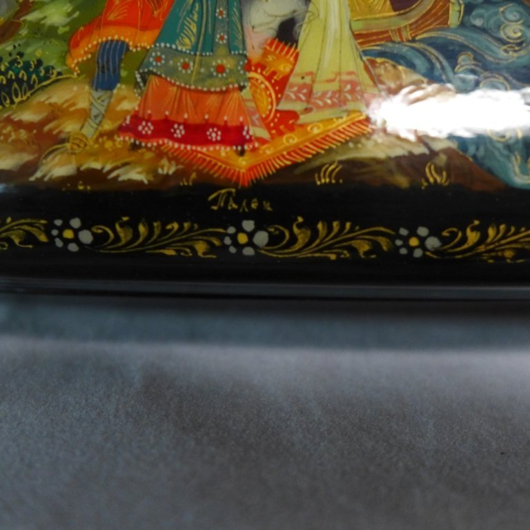 Two Russian Lacquer Boxes - 7