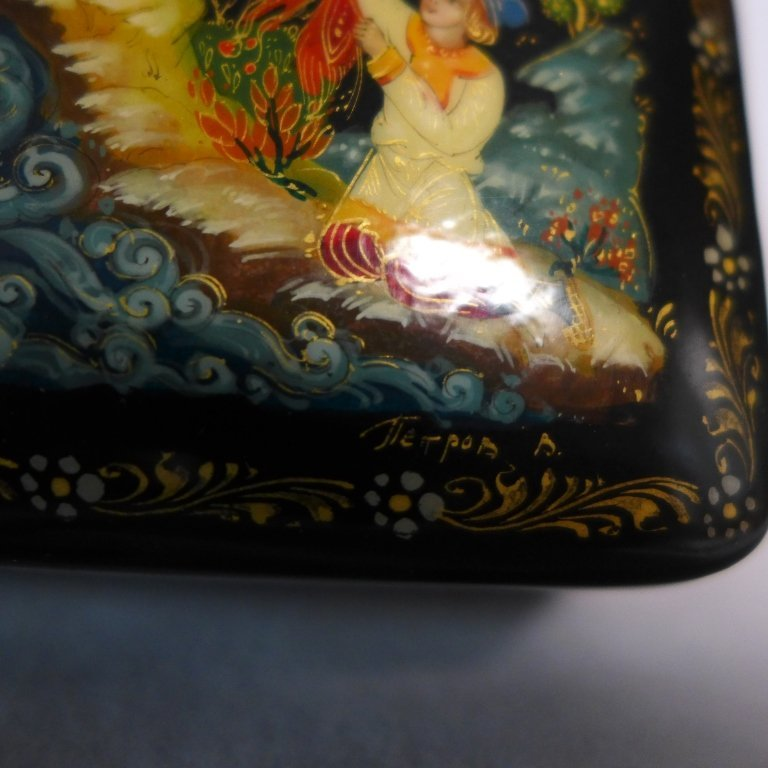 Two Russian Lacquer Boxes - 8