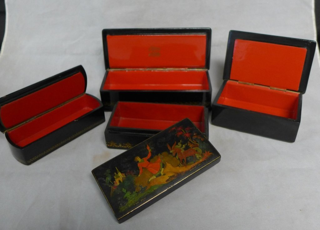 Russian Hand Painted Lacquer Boxes - 2